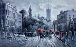 Grey Afternoon, Westminster by Henderson Cisz -  sized 48x30 inches. Available from Whitewall Galleries